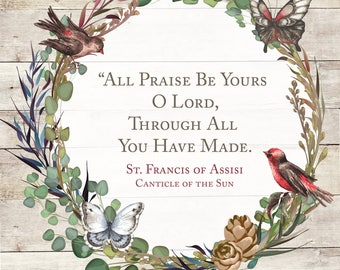 Saint Francis of Assisi Wall Decor Printable { Religious } { Catholic }