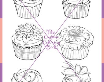 Download More Floral Cupcake Coloring Page
