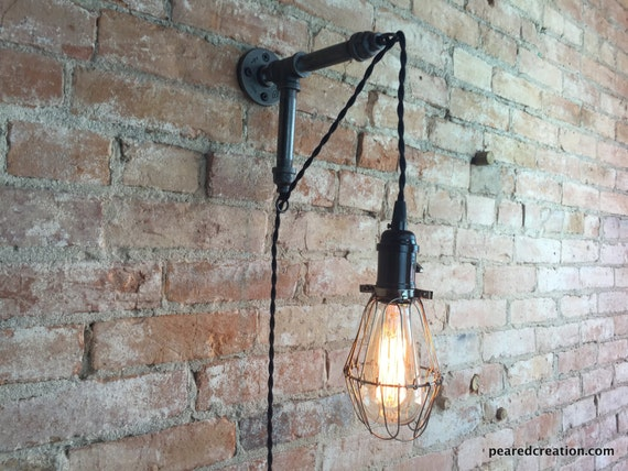 Edison sconce industrial furniture bulb cage wall sconce like this item aloadofball Choice Image