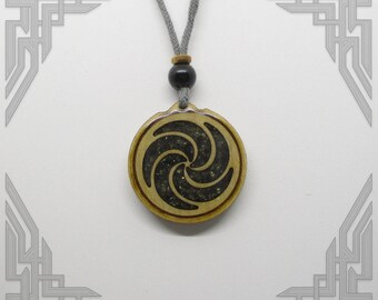 Black Tourmaline Orgone Necklace with Obsidian Bead