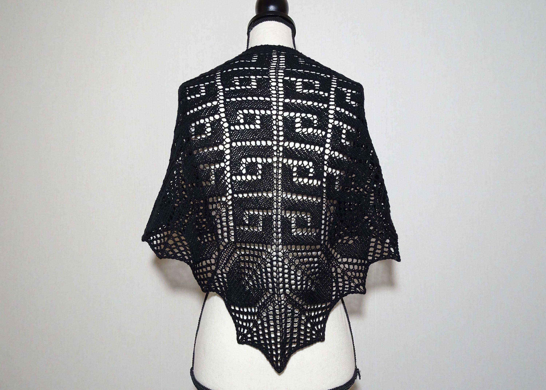 Knit Shawl Pattern Knit Lace Shawl Pattern Top Down Triangle