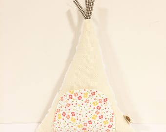 Teepee, teepee Pillow, tooth fairy pillow, tooth fairy, teepee toy, baby gift