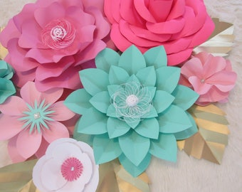 Hard Copy Template 15 Large Paper Flower