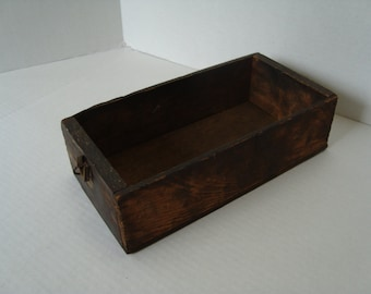 Small Primitive Wooden Drawer