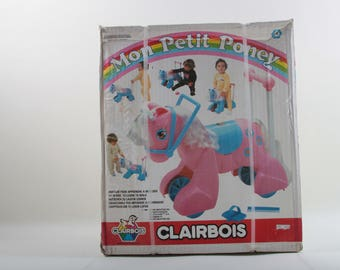 Clarbois, My Little Pony, Mon Petit Poney, Vintage, French Packaging, Walking, Riding, Toy, Poney, Wheels, In a Box ~ The Pink Room ~ 170427