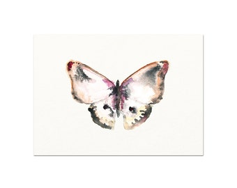 Watercolor Butterfly Art Print. Modern Nature Wall Art Decor. Butterfly Print. Serene Nature Painting. Bathroom Art Print. New Baby Gift.