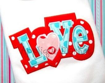Machine Embroidery Design Applique Love 2 Layer INSTANT DOWNLOAD