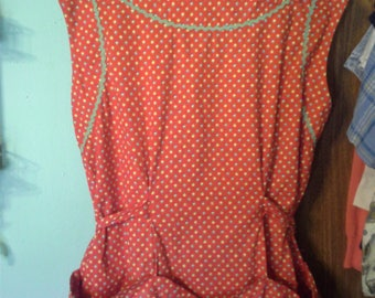 Vintage Homemade Full kitchen apron