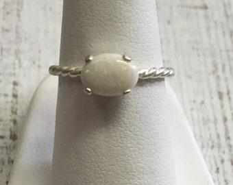 Australian Opal Ring. Size 6. Sterling Silver