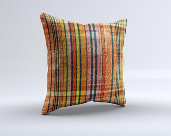 The Abstract Retro Stripes Pillow ink-Fuzed Decorative Throw Pillow