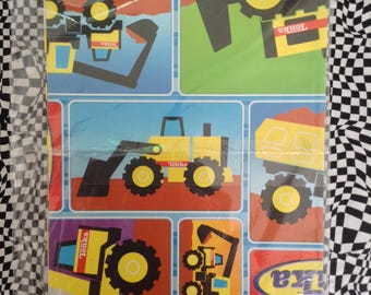 Tonka Party~Tonka Toys~Gift Wrap~Wrapping Paper~American Greetings~NOS