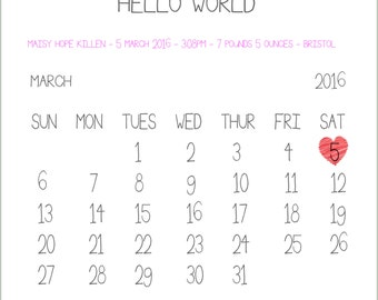 Personalised Special Month Word Art