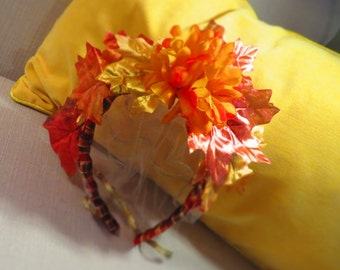 Autumn Bridal Fascinator with Veil