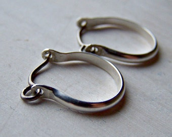 Silver Earrings - Titanium Earrings - Niobium Earrings - Hoop Earrings - Hypoallergenic Earrings - Nickel Free Earrings - Sensitive Earrings