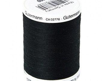 Gutermann Sew-All Thread - 1000m/1094 yd Spool - Black (color 010)