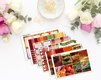 Fall Photography Weekly Kit - Planner Stickers - Erin Condren Vertical Life Planner