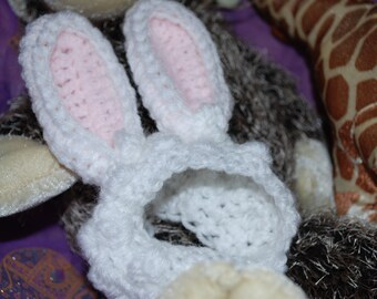 Crochet Bunny Ears Hat for Dog or Cat