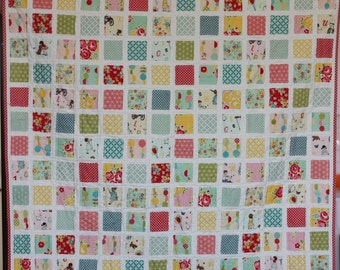 "Sweet Baby Girl Quilt measures 37""x42.5"" flannel back"