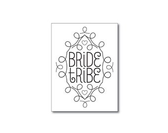 bride tribe tattoos art deco temporary tattoos bachelorette party favors bridesmaid gifts bachelorette party tattoos fake tattoo black tatoo
