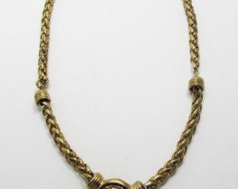 Vintage-Collectible-Queen Elizabeth-Jewelry-Gold-Necklace-Costume Jewelry-Minimalist-Unique-Women-Gift-Birthday-Birthday Gift-Anniversary