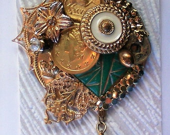 Artist Created Coin Brooch - 5910