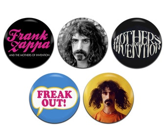 5x Frank Zappa Mothers Of Invention Psychedelic Hippie 60's Rock 25mm / 1 Inch D Pin Button Badges