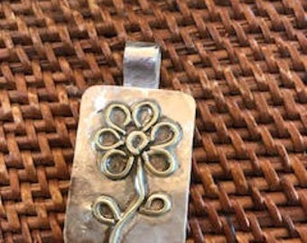 Sterling silver, flower pendant