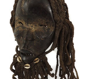 Dan Mask Bearded Liberia African Art 121398