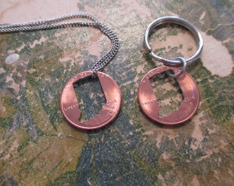 The Marion - Indiana Cut Out Penny Necklace OR Key Chain