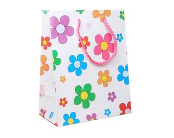 Pink small bag gift box with cord handle 23 cm