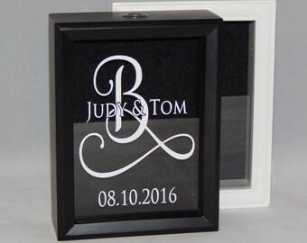 """Sand  Ceremony Wedding Shadow Box / Frame 5""""x 7"""""""