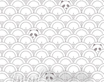 Woven Fabric - Hidden Panda Cottonbud - Fat Quarter Yard +
