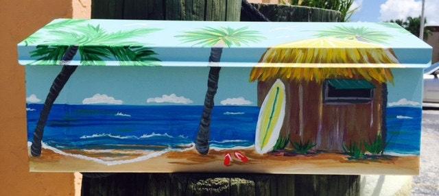 Beach Mailbox Surf Shack Beach Palm Trees Scenic Beach