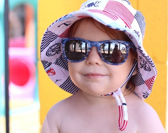 kids summer hat,boys bucket hat,baby sun protection,boys beach hat,navy sun hat,boys birthday gift,kids sun hats,wide brim hat,octopus hat