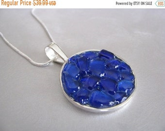 Mothers Day Sale Blue Sea Glass Jewelry - Cobalt Blue - Sea Glass Necklace - Unique jewelry - Beach Glass Jewelry- Mermaid Tears from Prince