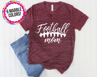 Football Shirt/ Football Mom Shirt/ Game Day Shirt/ High School Football/ College Football/ Football Season/ Fall Shirt/ Proud Mom/ Custom