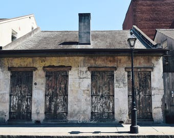 New Orleans- NOLA- French Quarter- Architecture- Weathered History- Fine Art Photography