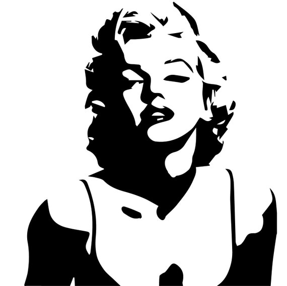 Svg Marilyn Silhouette File Marilyn Monroe Eps Files