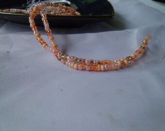 Peach Czech Glass Seed Beads