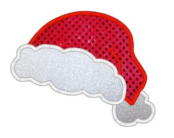 Santa Hat Digital Machine Embroidery Appliqué Design