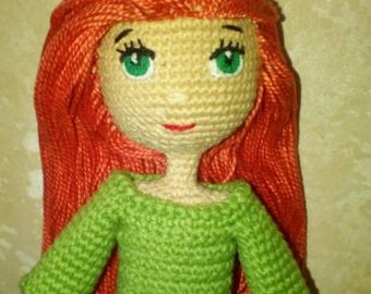 Knitted doll with moving hands and feet