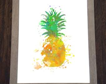 Watercolor print - Fruit print - Pineapple print - Pineapple Watercolor