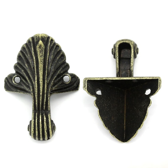 Set of 4 foot / angle - bronze - size: 44 X 32 mm