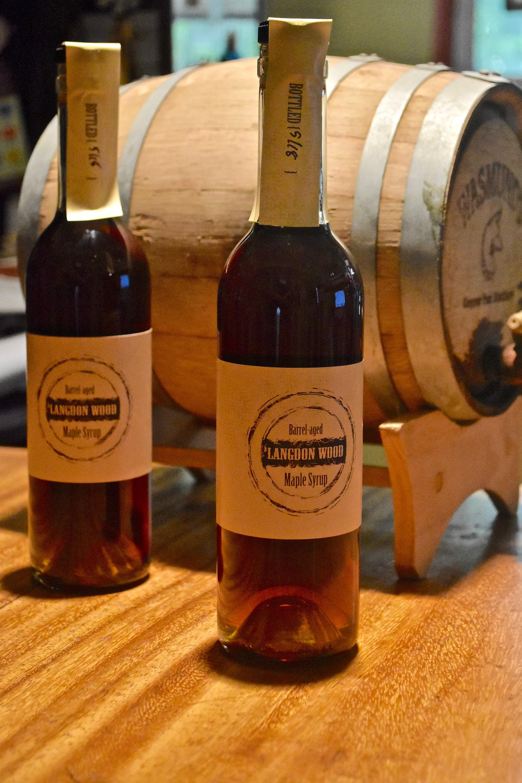 2 Bottles of Barrel Aged Maple Syrup