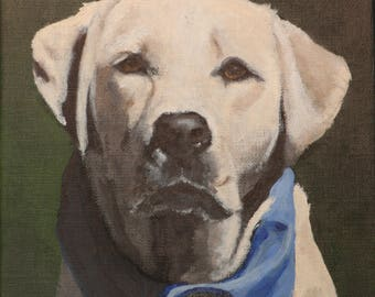 "Custom Painting of YOUR pet 8""x8"" Linen Canvas"