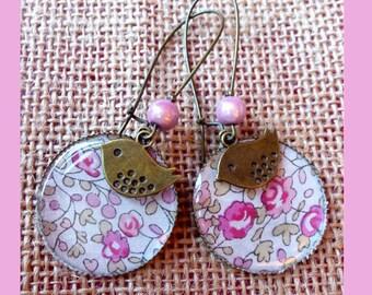Large pink eloise oreillesliberty earrings