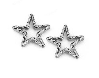 14k Star Earrings, 14k Star Post earring, Gold Stars, Gold Star Earrings, Star Earrings, Gold Earrings, Stars, Post Earrings