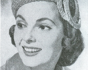 PDF Vintage Ladies/Mens Knitting/Crochet Pattern Book - ElegHat Styles from the 1950's