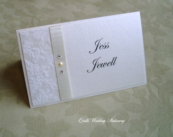 Wedding Place Name Card. Seating Card. Luxury Wedding Place Card.