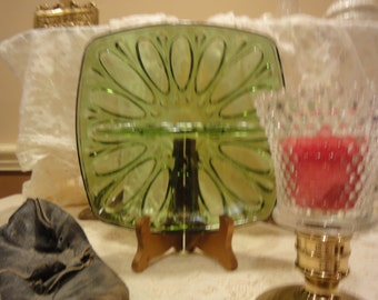 Vintage Relish Dish/Vintage Glass/Vintage Green Glass/Imperial Glass